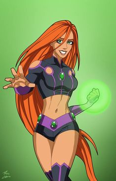 This is what modern Starfire looks like outside of 'Stealth Mode' Character Art by phil-cho , with recolors by me Superhero Characters, Dc Comics Characters, Teen Titans, Comic Books Art, Comic Art, Starfire Dc, Hq Marvel, Arte Dc Comics, Mundo Comic