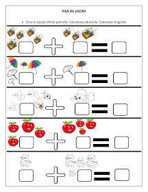 Fiecar fisa cuprinde adunari si sunt dedicate copiilor de clasa pregatitoare. Toate cifrele sunt reprezentate prin imaginii. Copiii sunt aju... Dyslexia Activities, Kindergarten Math Worksheets, Preschool Activities, Numbers Preschool, 1st Grade Math, Math For Kids, Kids And Parenting, Teaching Kids, Mathematics