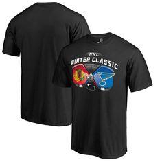 Chicago Blackhawks vs. St. Louis Blues 2017 NHL Winter Classic T-Shirt - Black