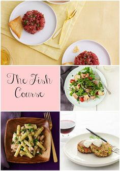 The Fish Course - 4 different fish recipes perfect for Shabbat lunch.