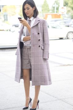"""Street Style ---""""borrowed from the boys but looked perfectly ladylike"""""""