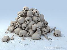 Pile of skulls 3d illustration by Koya79, via Dreamstime