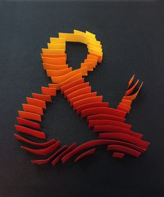 Paper, Craft, Ampersand, colors, Canson, Texture, typography, art, paperart, type, and, design, graphic, handmade,