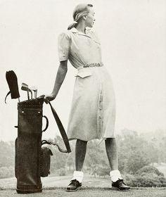 Lovely vintage golf look from Graff, 1947. www.GolfSportMag.com