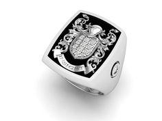 Anneau de mens mens silver ring 925 chevalière par 3DHeraldry