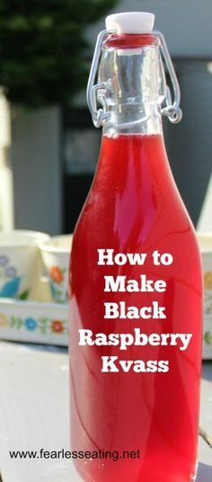 Black raspberry kvass is a kid-friendly fermented fruit drink that is easy to make at home. It& also a healthful alternative to commercial sodas. Fruit Drinks, Healthy Drinks, Beverages, Healthy Food, Healthy Eating, Kombucha, Beet Kvass, Making Bone Broth, Water Kefir