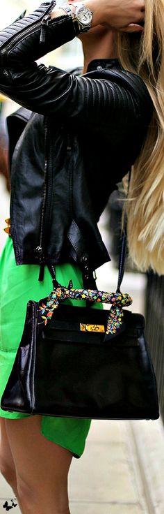 #street #fashion style electric green @wachabuy