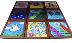 #Ceramic #Tile displayed in a wooden frame will make a lovely gift suitable for any special occasion. #Fundraiser for #School opportunity.