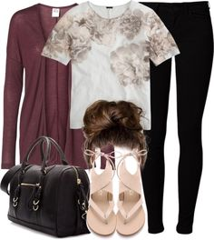 Lydia Inspired Outfit with Flat Sandals Lydia Martin Style, Lydia Martin Outfits, Lydia Martin Hairstyles, Other Outfits, Casual Fall, Chic Outfits, Outfit Of The Day, Floral Tops, Girl Fashion