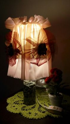 My artwork for my table lamp, use recycle material and product #2