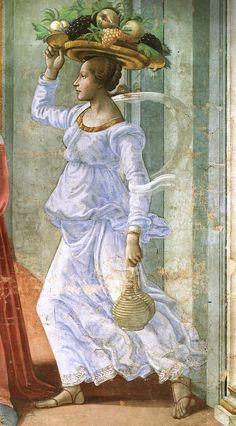 Domenico Ghirlandaio (Italian, Florence, ~ Renaissance painter ~ Among his many apprentices was Michelangelo. Italian Renaissance Art, Renaissance Kunst, Renaissance Paintings, Fresco, Portrait Photos, Santa Maria Novella, John The Baptist, Italian Artist, Art Plastique