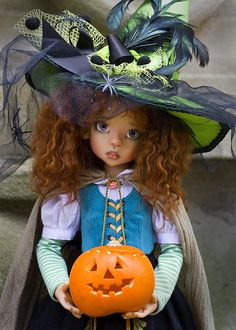 Zone of Zen: Two Little Witches Kaye Wiggs Layla by Martha of Antique Lilac