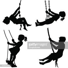 silhouette tree swing - Google Search