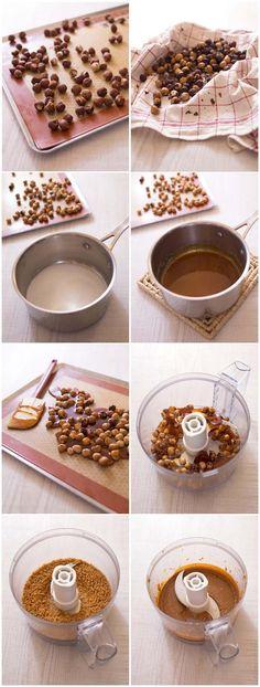 Pâte de praliné maison facile (noisettes ou amandes) – DIY photo pas à pas
