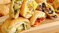 Savory fillings so tasty and tasteful -- these crescent appetizers will be the hit party platter for sure!