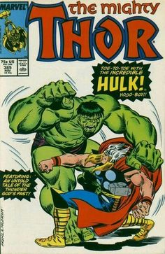 The Mighty Thor / Erik Larsen Pencils And Stan Lee Script! Having destroyed half a forest just west of the Mississippi River, the Hulk sleeps. In New York, Thor is told of the Hulk's rampage and flies to stop the mindless behemoth. Marvel Comics Superheroes, Marvel Comic Books, Marvel Characters, Marvel Heroes, Comic Books Art, Comic Art, Hulk Comic, Marvel Art, Captain Marvel
