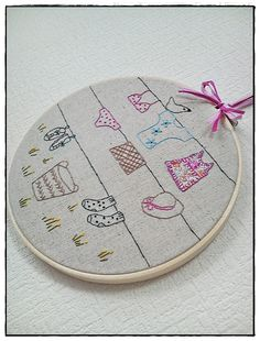 Hand embroidery in hoop (Laundry)