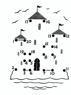 Crafts,Actvities and Worksheets for Preschool,Toddler and Kindergarten.Lots of worksheets and coloring pages. Color Activities, Preschool Activities, Castles Topic, Castle Crafts, Château Fort, Connect The Dots, Math Numbers, Activity Sheets, Worksheets For Kids