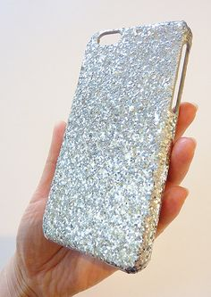 For Apple iPhone 6 4.7 Silver Specks Sequin Cluster Phone Case by Yunikuna