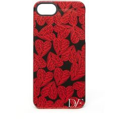 DIANE VON FURSTENBERG Mantra iPhone 5 Case (26 CAD) ❤ liked on Polyvore featuring accessories, tech accessories, phone cases, phones, iphone, cases, shoes, free hearts red, iphone cover case and red iphone case