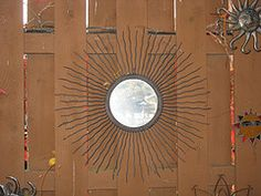 metal and mirror sun