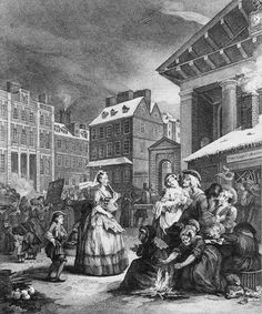 William Hogarth. Times of the day. Morning