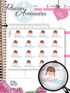 Make Bed Stickers Chore Planner Stickers von EmelysPlannerShop