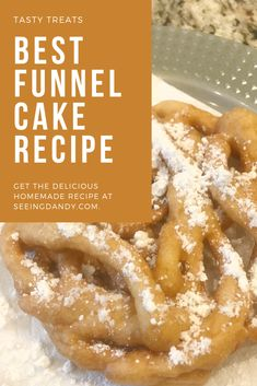 Delicious and easy to make funnel cake recipe desserts funnelcake recipes foodie carnival parties glutenfree Funnel Cake Recipe Easy, Homemade Funnel Cake, Easy Cake Recipes, Baking Recipes, Bisquick Funnel Cake Recipe, Carnival Funnel Cake Recipe, Homemade Pancakes, Pancakes Easy, Dessert Simple