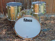 Vintage Fibes Fiberglass Drum Kit | eBay