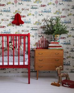 A splash of red for a Christmas feel nursery