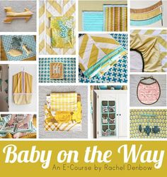 Project List: Colorful Burp Cloths, Fabric Fringe Garlands, Quilted Changing Mat, Oilcloth Diaper Case, Reversible Bibs, Customized Crib Sheet, Plus Sign Plush Mobile, Pillows Three Ways, Hanging Hamper, Shoe and Toy Organizer, Baby's First Photo Album, Herringbone Crib Quilt.