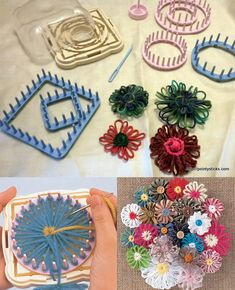 Hana Ami Flower Loom (made in China ) / 1 set Note : ini buatan China Harga murah, namun terus terang mutu jauh di bawah buatan Clover (asli Jepang) Cetakan dan packagingnya tidak rapi. Tidak berikut jarum, jarum dijual terpisah. #id15298