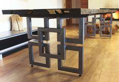 Metal Furniture Legs, Welded Furniture, Iron Furniture, Unique Furniture, Furniture Design, Modern Table Legs, Steel Table Legs, Tea Table Design, Metal Dining Table