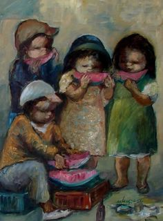 These children eating food remind me of the children and families in Cry The Beloved Country. The families and children in this book had to look really hard for food because they didn't have what the whites had. They didn't have enough money to do anything so they all really lived off of scrapes that they found and tried their best to live everyday to the fullest without being afraid of what would come tomorrow (Paton).