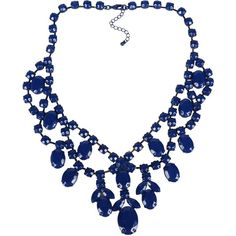 Stefanel Necklace ($59) ❤ liked on Polyvore featuring jewelry, necklaces, blue, plastic jewelry, plastic necklace, blue necklace, blue jewelry and stefanel