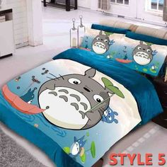 Fleece Oil Painting Totoro Bedding Sets
