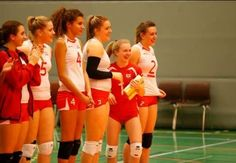 Team England at the qualifier for the 2014 CEV U19 Volleyball European Championship - Women