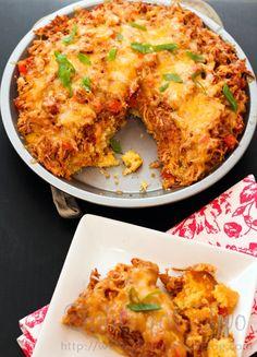 BBQ Chicken Cornbread Pie