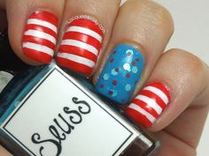 Dr. Seuss nails that I may actually be able to do myself! The others are AWESOME, but my skills are no where near good enough!
