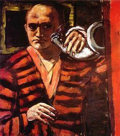 Max Beckmann, Autoritratto con corno, 1938