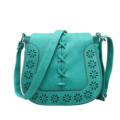 110eb5e15bc 100pcs lot Fashion Brand Women Leather Handbags Retro Hollow Out Crossbody  Shoulder Bag Hollow Out