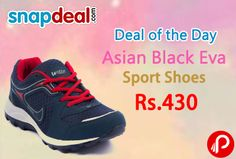 Snapdeal Deal of the Day is offering 14% off on Asian Black Eva Sport Shoes Just at Rs.430. Asian presents to you one of the stylist fashionista shoes for Men.  http://www.paisebachaoindia.com/asian-black-eva-sport-shoes-just-at-rs-430-snapdeal/