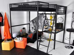Back to school: optimize the layout of your student studio - Trendy Home Decorations Teen Boys Room Decor, Pallet Beds, First Apartment, Trendy Home, Bedroom Styles, Girl Room, Space Saving, Small Spaces, Living Spaces