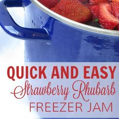 My grandma's recipe for Strawberry Rhubarb Freezer Jam, which I grew up eating on soft homemadebread, is one of the most delicious foods I've ever put in my mouth! It's incredibly easy and actually very quick! Whenever we're craving something sweet, I pull out some rhubarb and strawberries, which have been chopped and frozen in …