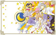 Art by CLAMP: Sakura Kinomoto,Yue,Kero