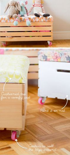 DIY Toy Box with Casters | Easy Storage Ideas for Kids Rooms | Clever Storage Solutions for Kids Bedrooms