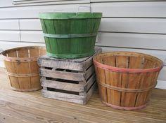 3 Orchard Baskets-3 Bushel Basket-Farmers by JustLikeGrammasHouse