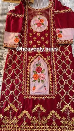 Bridal Suits Punjabi, Wedding Salwar Suits, Punjabi Salwar Suits, Designer Punjabi Suits, Pakistani Bridal Dresses, Bridal Lehenga, Embroidery Suits Punjabi, Hand Embroidery Dress, Embroidery Neck Designs
