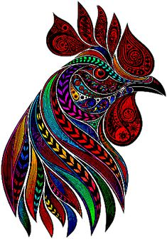 sticker by Discover all images by Find more awesome rooster images on PicsArt. Rooster Painting, Rooster Art, Dot Art Painting, Watercolor Art, Chicken Painting, Chicken Art, Arte Do Galo, Animal Drawings, Art Drawings