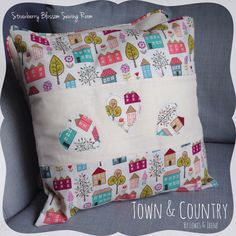 Today was a really fab day for sewing. The children were all entertained and I had a few hours of free time to make some squidgy cushions from one of my favourite fabrics for the home - Town & Country by designers Lewis & Irene. I'm selling these one-off cushions for £15 each. They measure 16 x 16 inches and they're ready to post straight away. Drop me a message if you would like one (or both) of them  x #strawberryblossomsewing #sewing #cushion #fabric #homemade #fabricaddict #sewingproject…